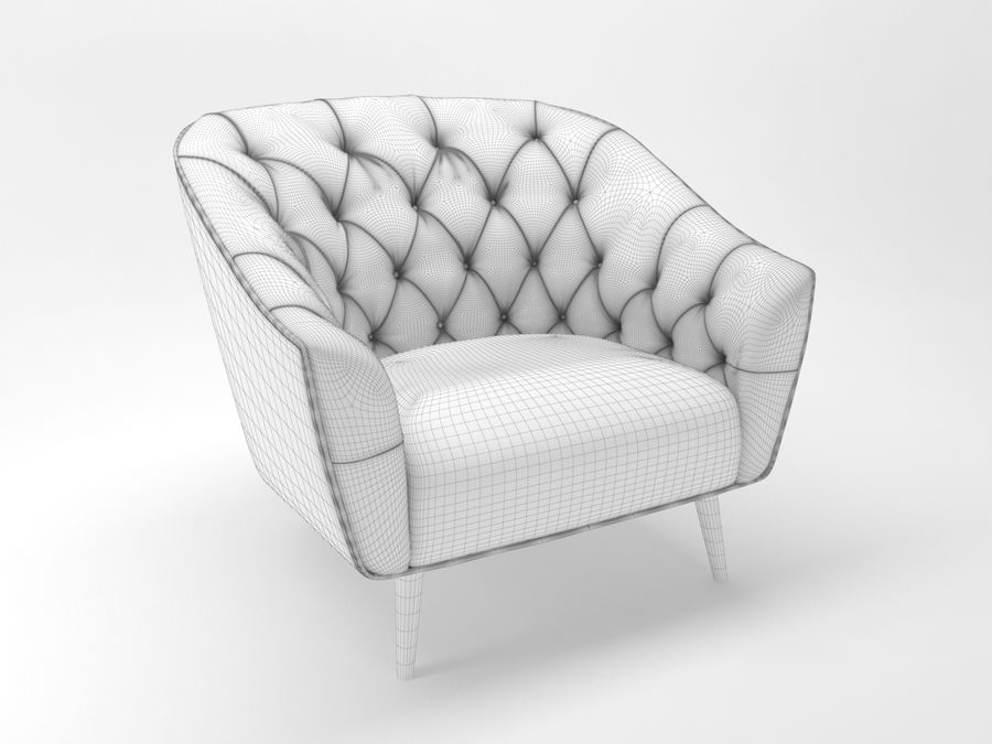 Busnelli Amouage fauteuil royalty-free 3d model - Preview no. 6
