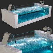 Havuz, şelaleler: Niagara, Dolphin 3d model