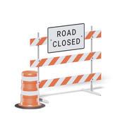 Closed Road Sign 3D Model 3d model