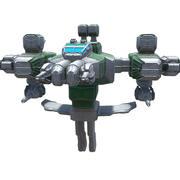 Schwerer Weltraumkämpfer 3d model