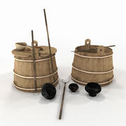 utensilios de cocina viejos modelo 3d