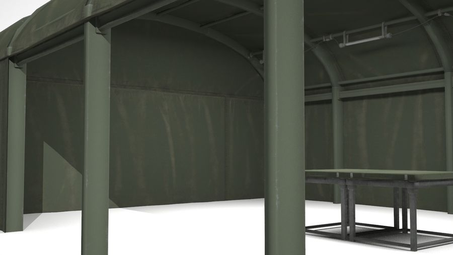 Tenda do acampamento militar royalty-free 3d model - Preview no. 3