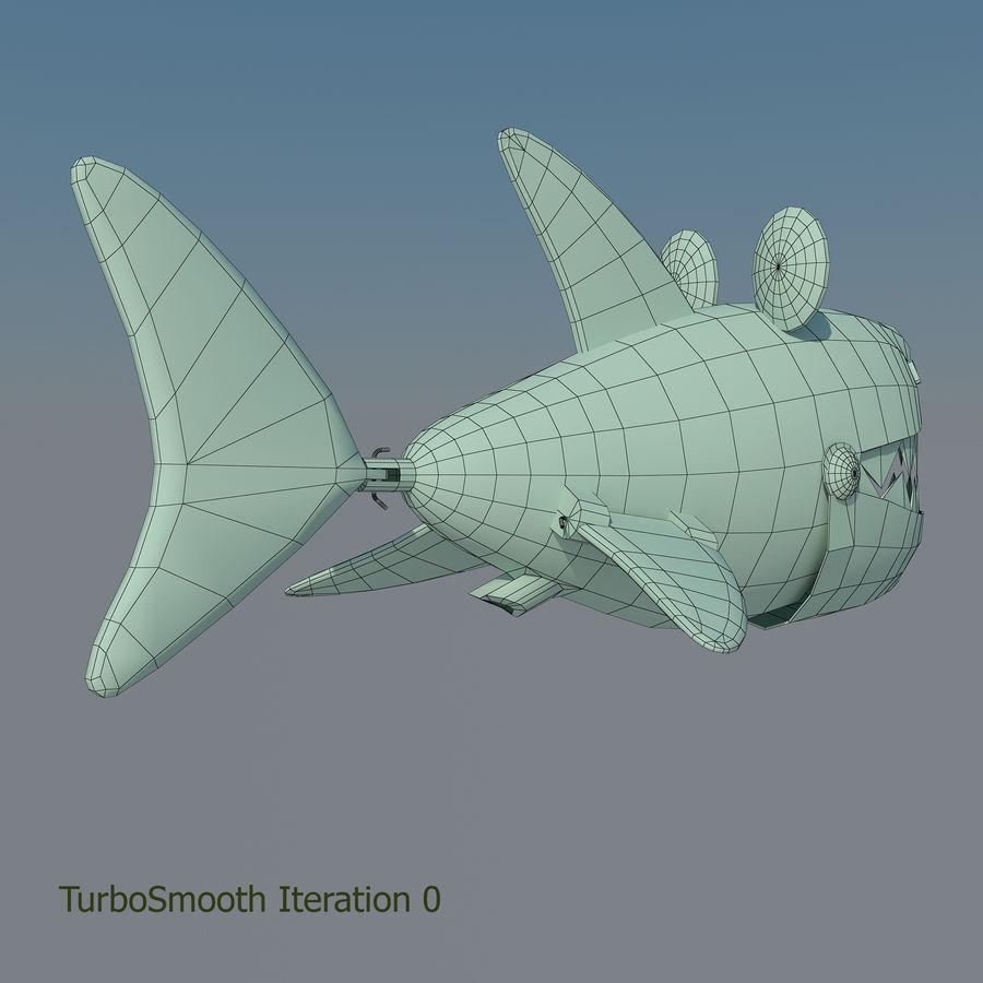 squalo del fumetto - robot royalty-free 3d model - Preview no. 11
