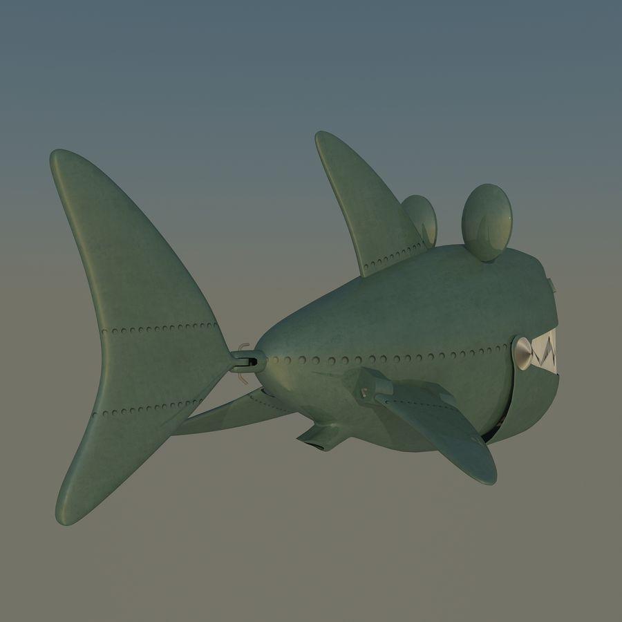 squalo del fumetto - robot royalty-free 3d model - Preview no. 5