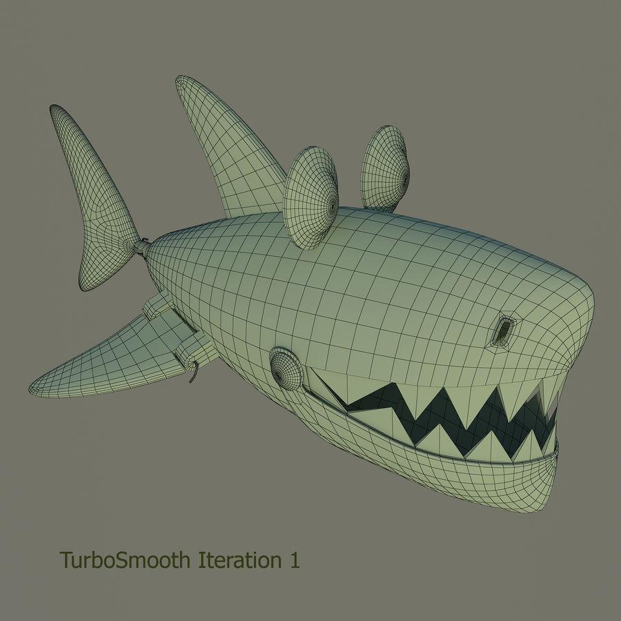 squalo del fumetto - robot royalty-free 3d model - Preview no. 7