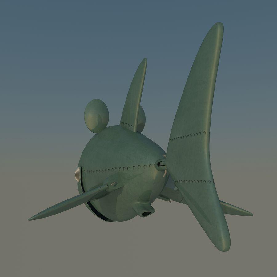 squalo del fumetto - robot royalty-free 3d model - Preview no. 4