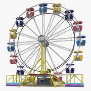 Roda gigante do parque de diversões 3d model