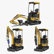 Mini Excavator JCB 3D Models Collection 3d model