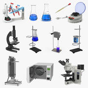 Lab Equipment Collection 3d model