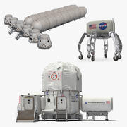 Space Colony Structures 3D Models Collection 3d model