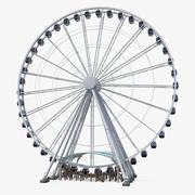 Modelo 3D Rigged Seattle Great Ferris Wheel 3d model