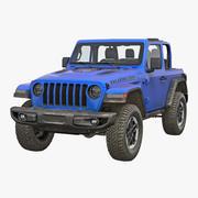 4x4 Jeep Wrangler Dirty 3d model
