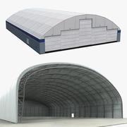 飞机机库3D模型收藏 3d model
