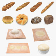 Bakery Products and Dough 3D Models Collection 3d model