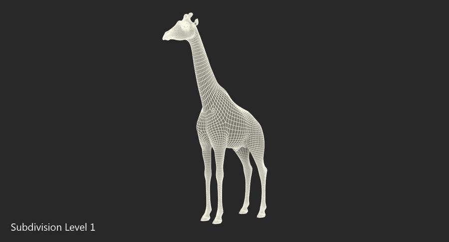 African Giraffe Fur royalty-free 3d model - Preview no. 18