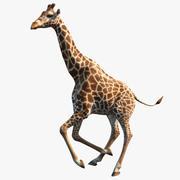 Model 3D uzbrojony żyrafy 3d model