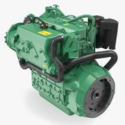 船用柴油机3D模型 3d model
