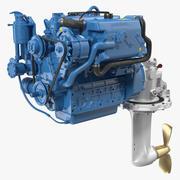 Motor a diesel marítimo Nanni 3d model