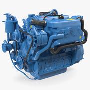 Motor marítimo de 4 cilindros Nanni Diesel 3d model