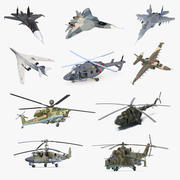 Rigged Russian Military Aircrafts 3D Models Collection 2 3d model
