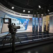 TV Weather Forecast Studio 3d model