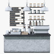CoffeeShop Zwart Wit Set 3d model
