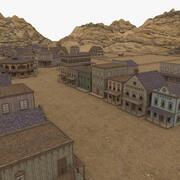Western Village 3d model