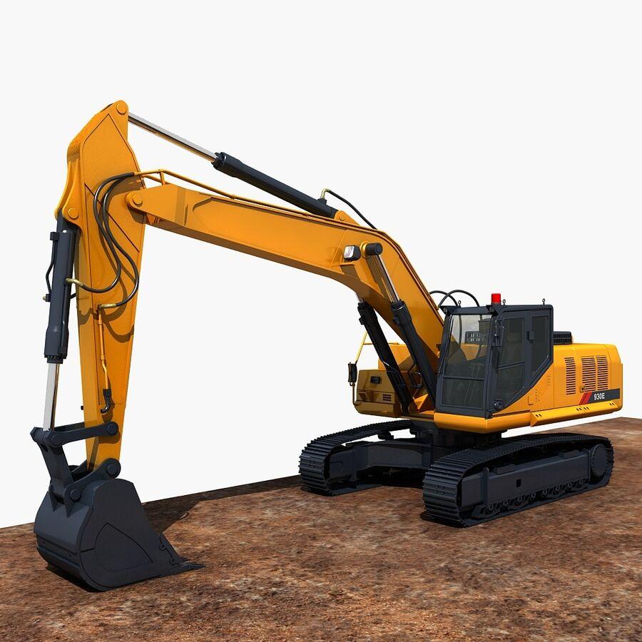 工程机械3 royalty-free 3d model - Preview no. 14
