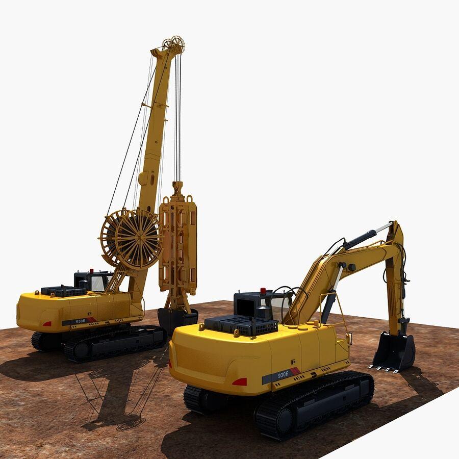 工程机械3 royalty-free 3d model - Preview no. 2