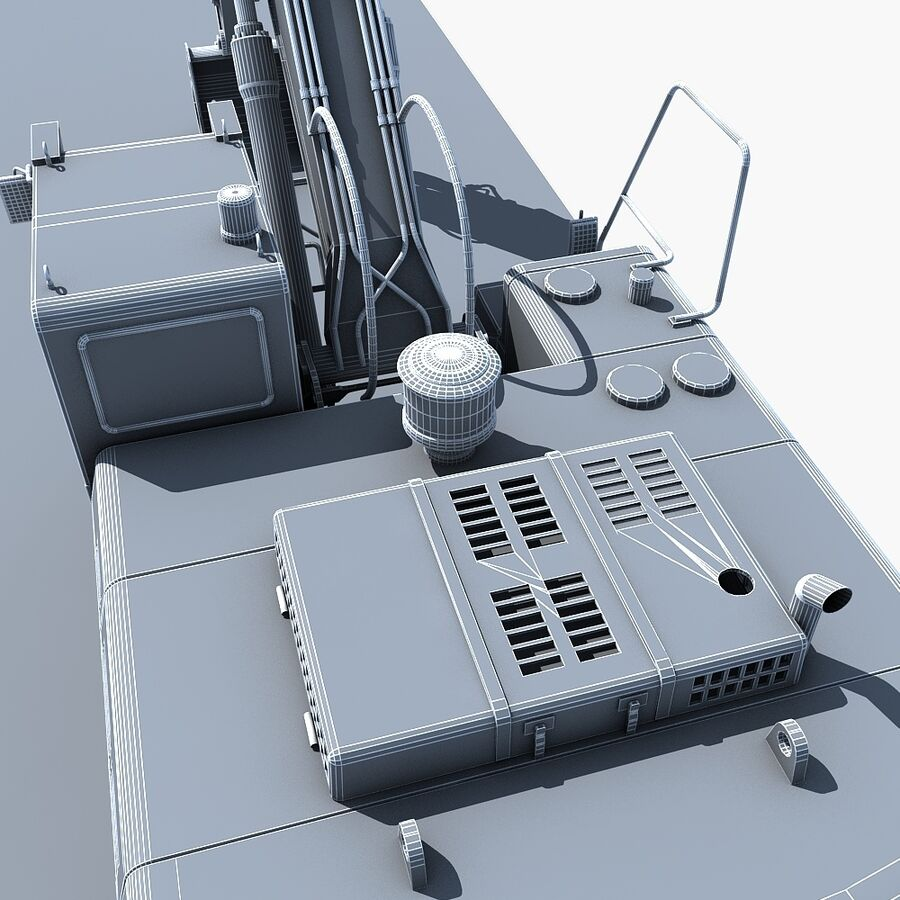 工程机械3 royalty-free 3d model - Preview no. 28