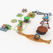 Equipamento de parque de diversões 3d model