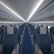 Uçak kabini 109 kişilik V2 3d model