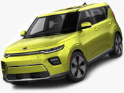 起亚Soul EV 2020 3d model
