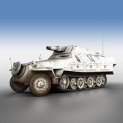 SD.KFZ 251/9 - Ausf.D - Stummel - 14 3d model