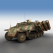 SD.KFZ 251/1 Ausf.D-Stuka zu Fuss-825 3d model