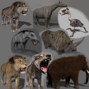 Past mammals pack - 3d animated past mammals pack 3d model