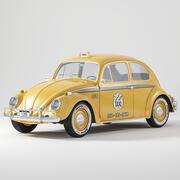 폭스 바겐 비틀 택시 3d model