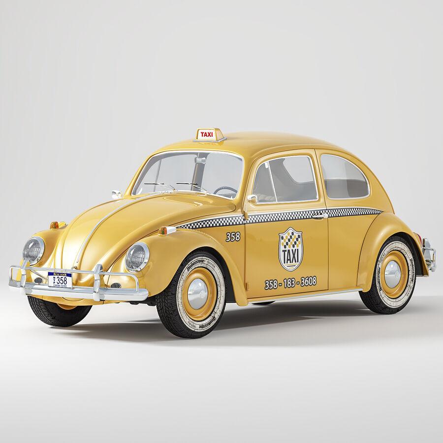폭스 바겐 비틀 택시 royalty-free 3d model - Preview no. 1