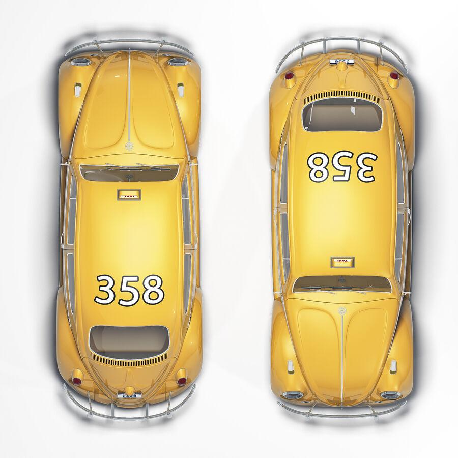 폭스 바겐 비틀 택시 royalty-free 3d model - Preview no. 3