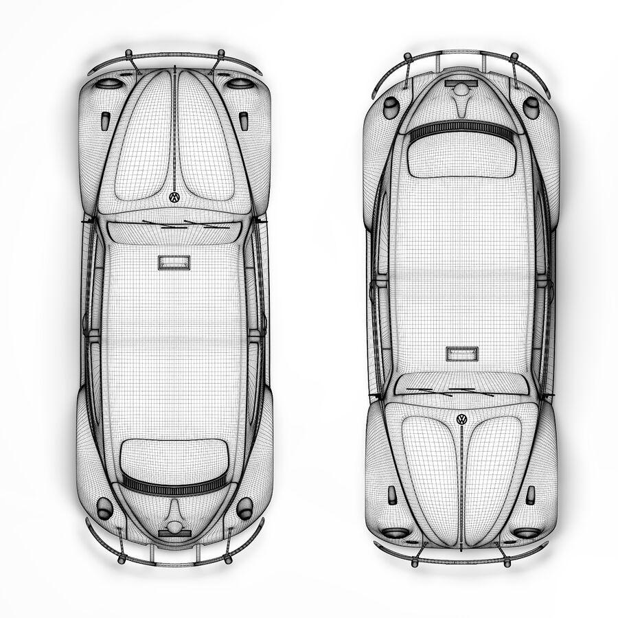 폭스 바겐 비틀 택시 royalty-free 3d model - Preview no. 6
