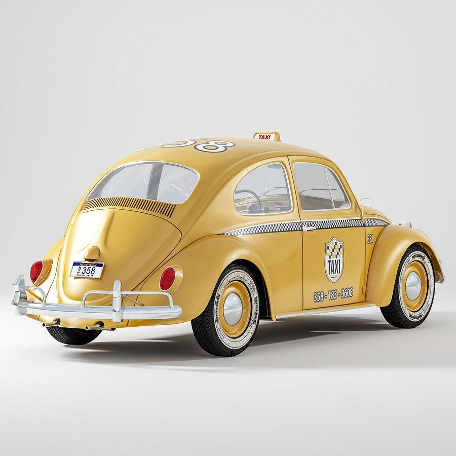 폭스 바겐 비틀 택시 royalty-free 3d model - Preview no. 2