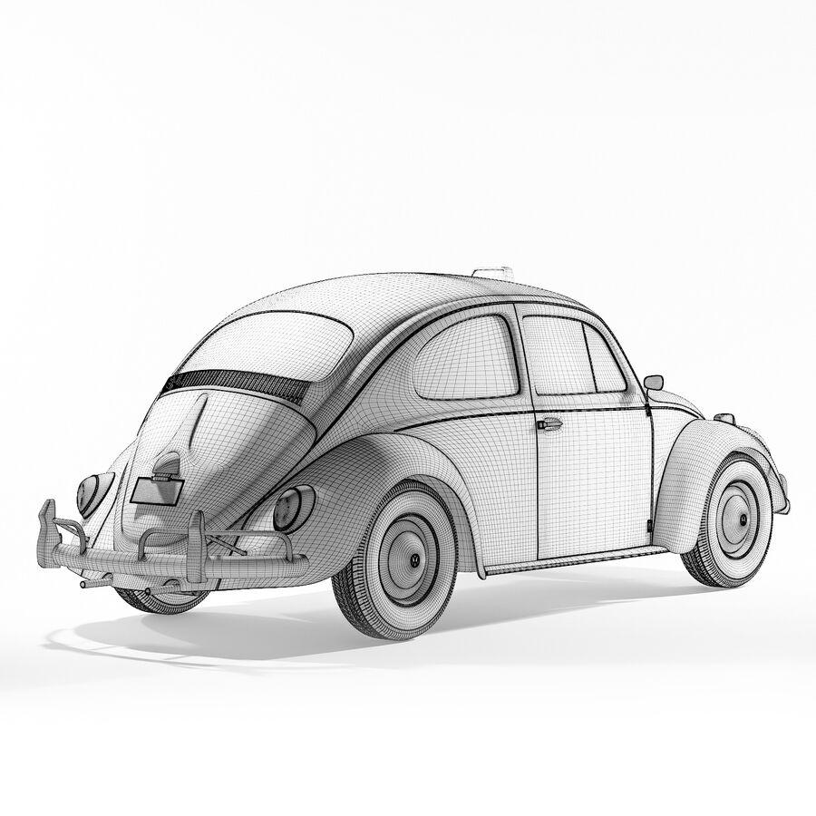 폭스 바겐 비틀 택시 royalty-free 3d model - Preview no. 5