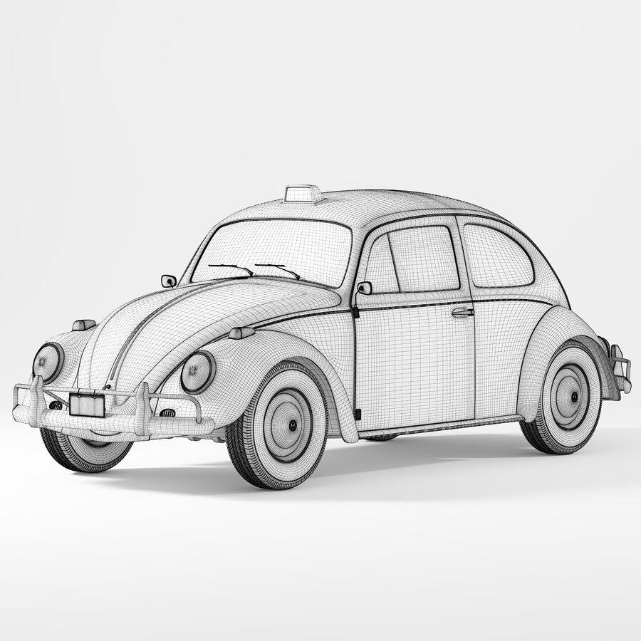 폭스 바겐 비틀 택시 royalty-free 3d model - Preview no. 4