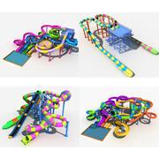 Verzameling van waterglijbaan 3d model