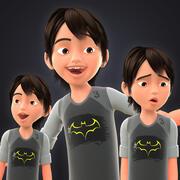 TOON BOY 3 - EXTRA FIGURANT 3d model