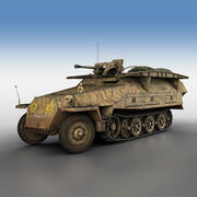 SD.KFZ 251/7 Ausf.D - Assault-Engineer Vehicle - 1134 3d model
