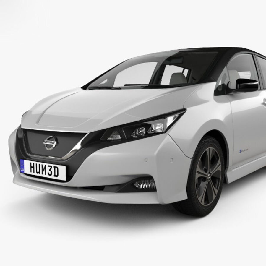 Nissan Leaf con interior HQ 2018 royalty-free modelo 3d - Preview no. 6