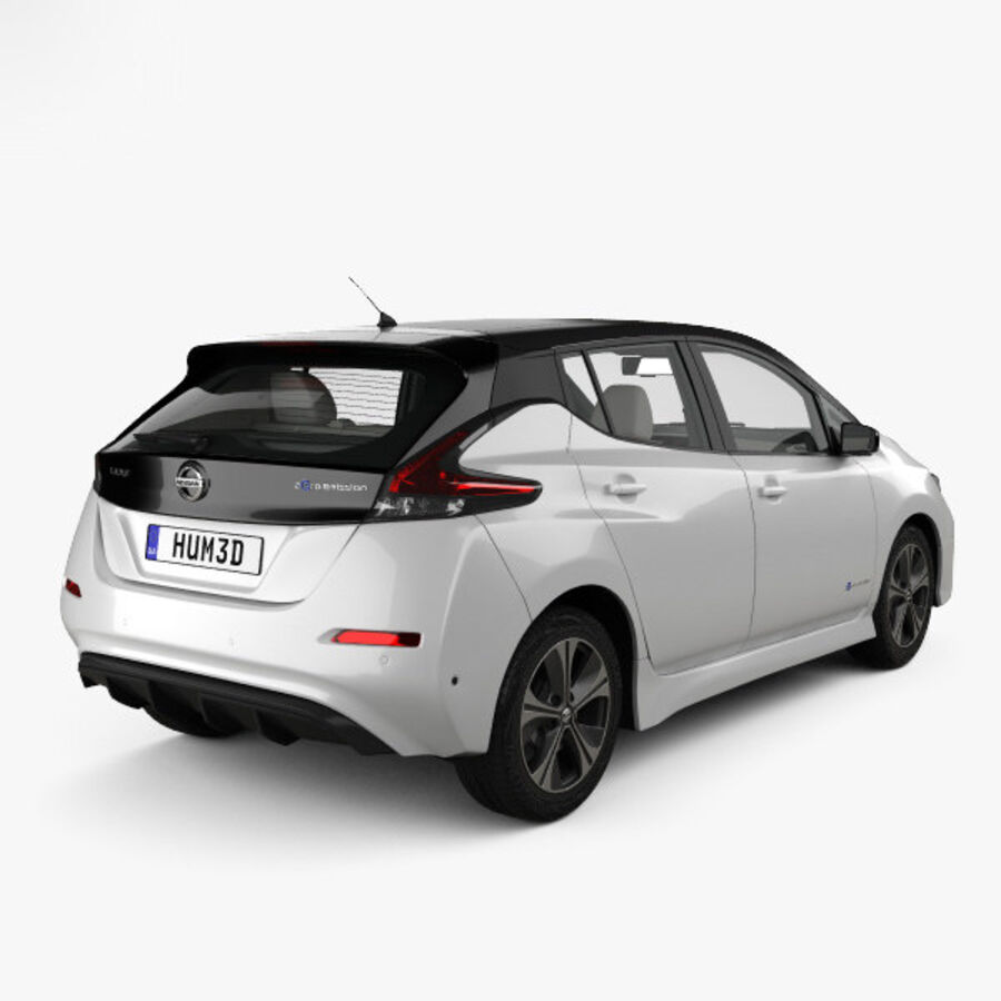 Nissan Leaf con interior HQ 2018 royalty-free modelo 3d - Preview no. 2