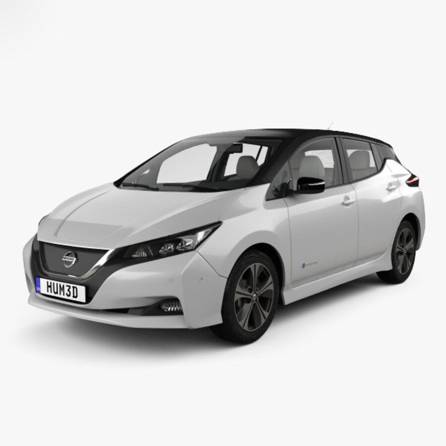 Nissan Leaf con interior HQ 2018 royalty-free modelo 3d - Preview no. 1