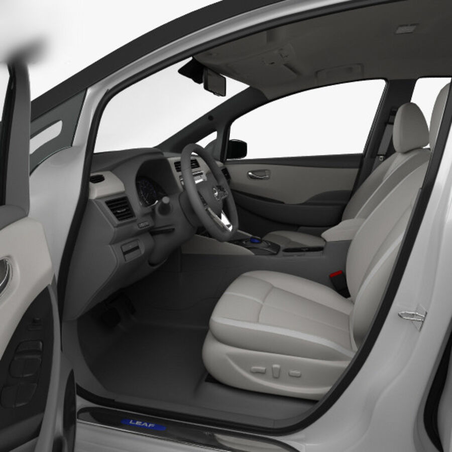 Nissan Leaf con interior HQ 2018 royalty-free modelo 3d - Preview no. 14